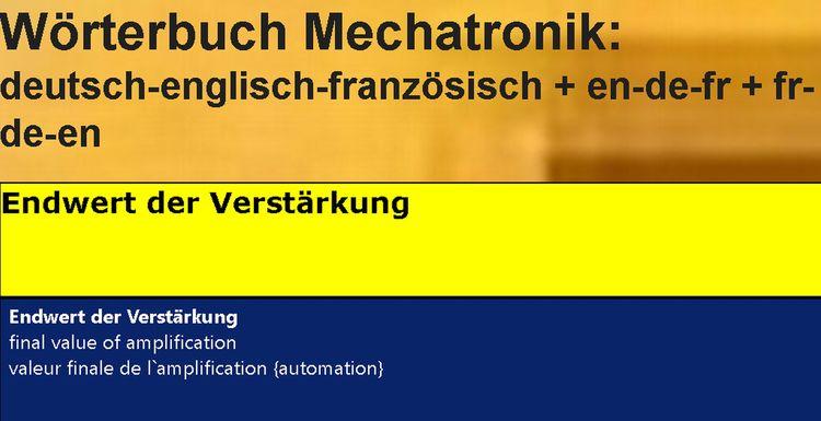 glossaire/ dictionnaire techniq - mechatronik-lehrmittel-wagner | ello