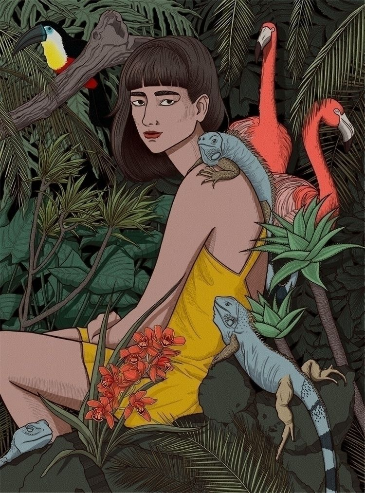 illustration inspired nature an - nelidazubia | ello