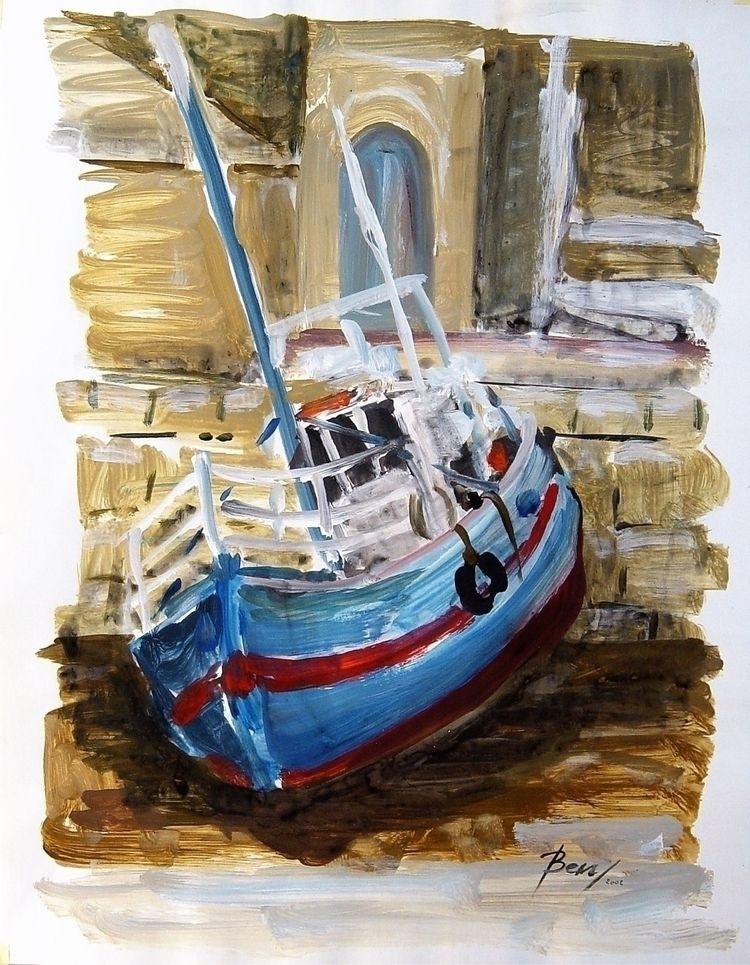 Stranded boat 2002 Ben (Bernard - ben-peeters   ello
