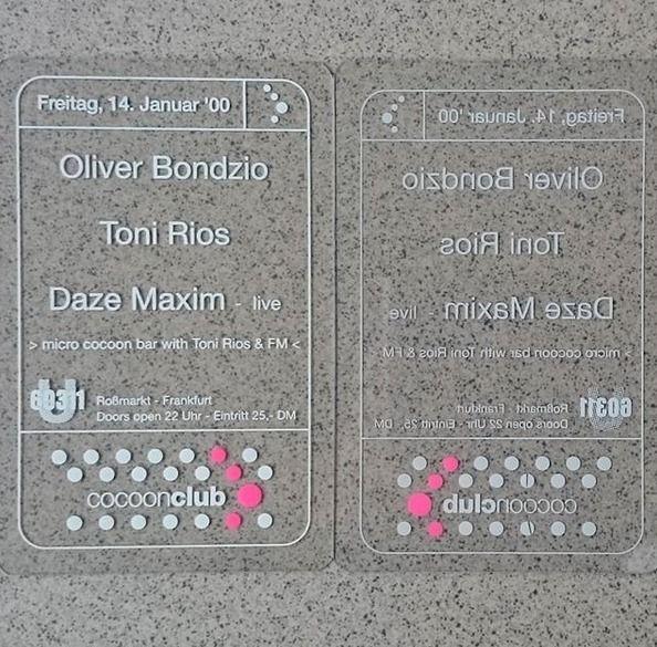 Cocoon Club 14.Januar 2000 U603 - bondziolino | ello