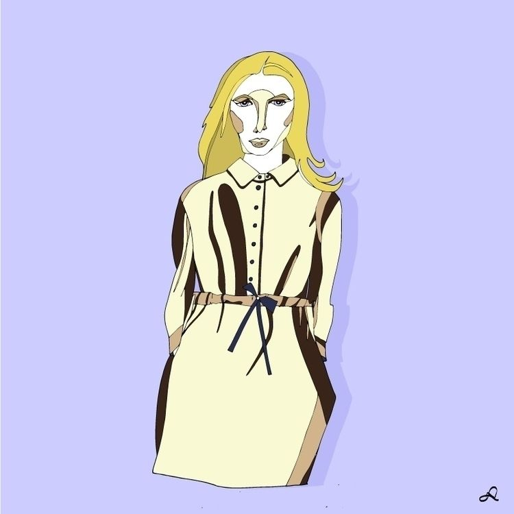 Woman beige coat - fashionillustration - naomilittle | ello