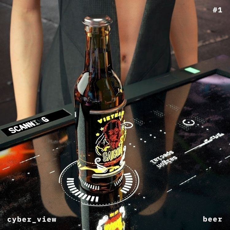 buy beer cyber world. HUD Label - vinhlam | ello