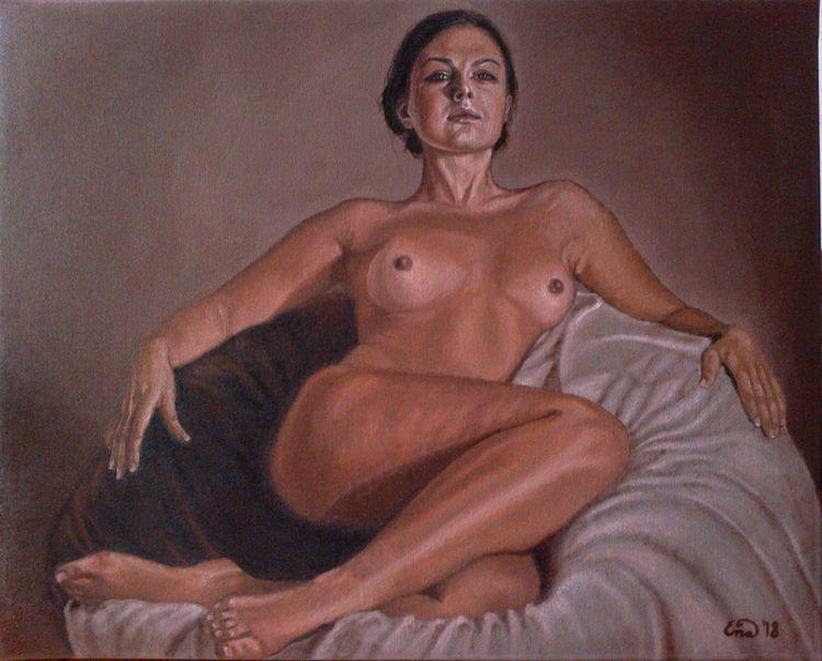 TIME II Oil canvas 40x50cm SALE - enavarsavikova | ello