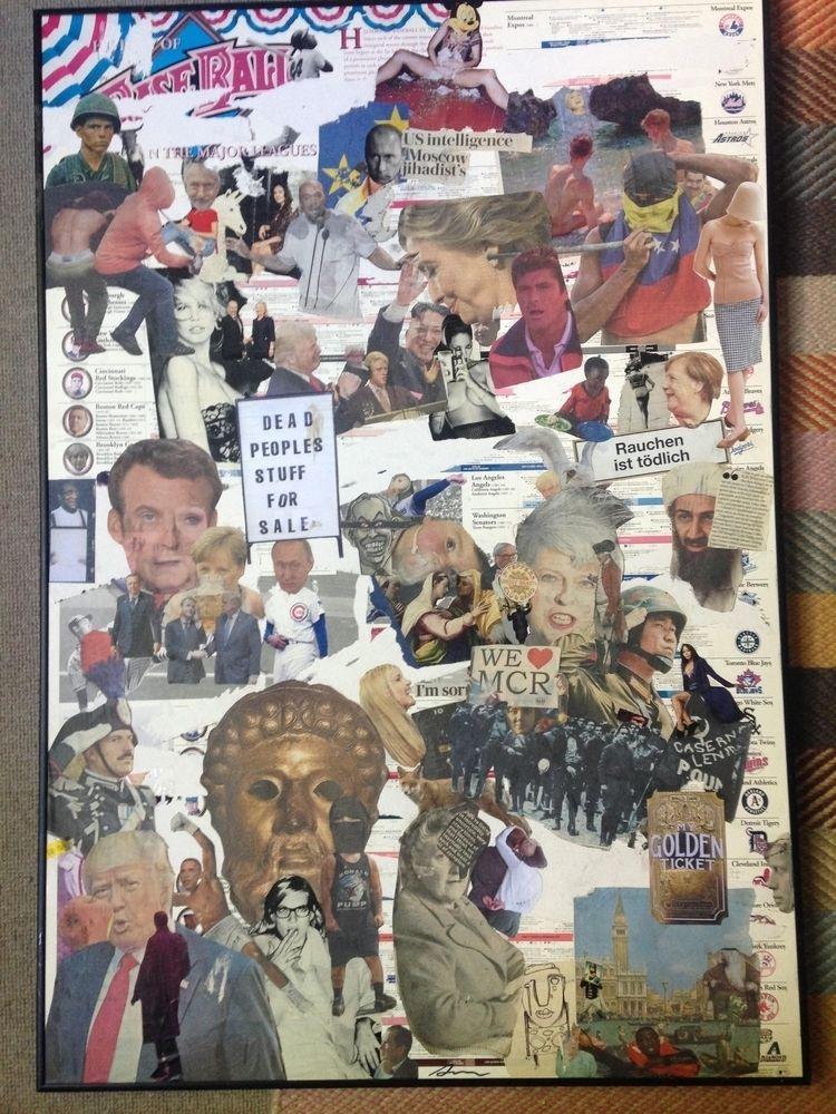 handmade collage leave strange  - zeno- | ello