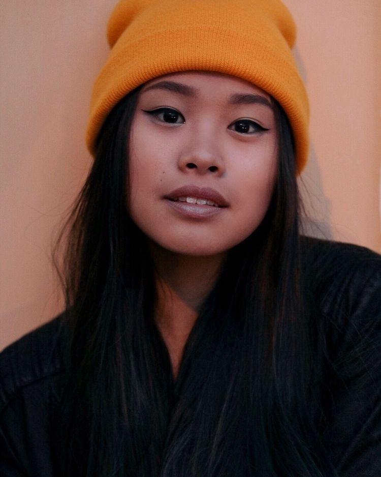 Orange black 🧡 Model: Mari Naga - ookaythata | ello