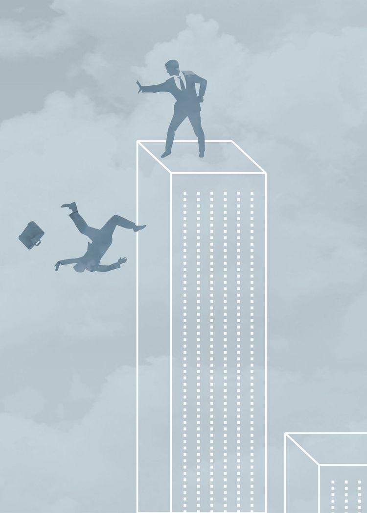 Business push - illustration, graphic - markograf | ello