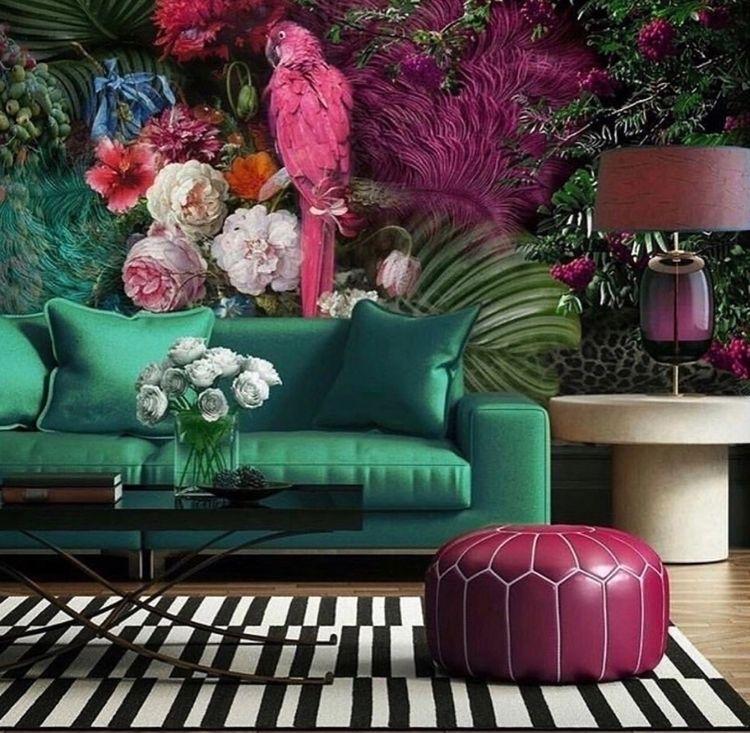 Tropical Wallpaper  - interiordesign - silverravenstudio   ello