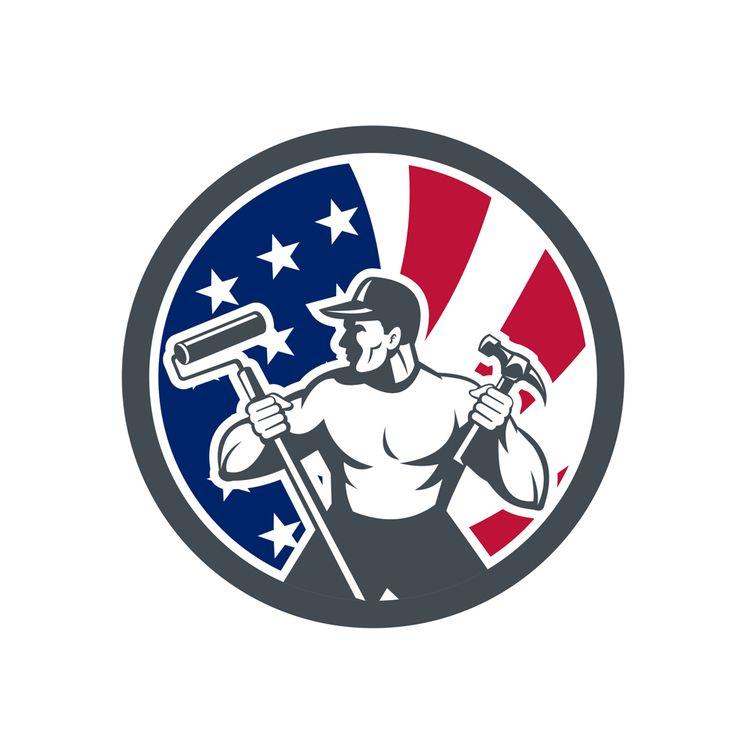 American Handyman USA Flag Icon - patrimonio | ello