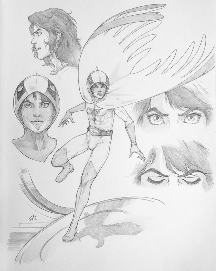 Ken Eagle character studies, pr - srj_art | ello
