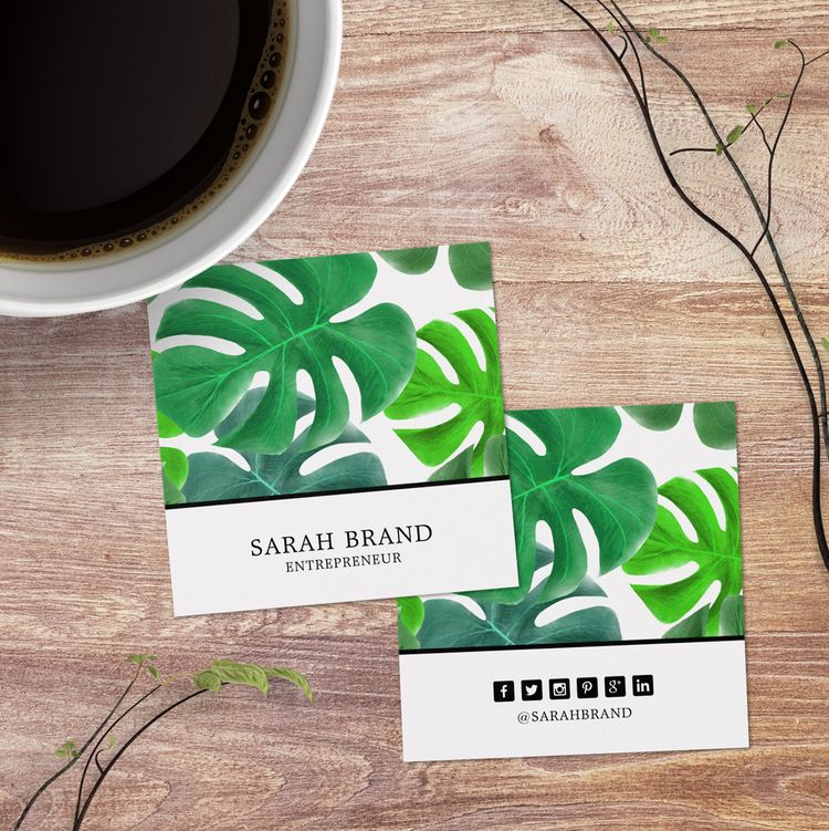 Tropical Leaves Social Media Sq - j32design | ello