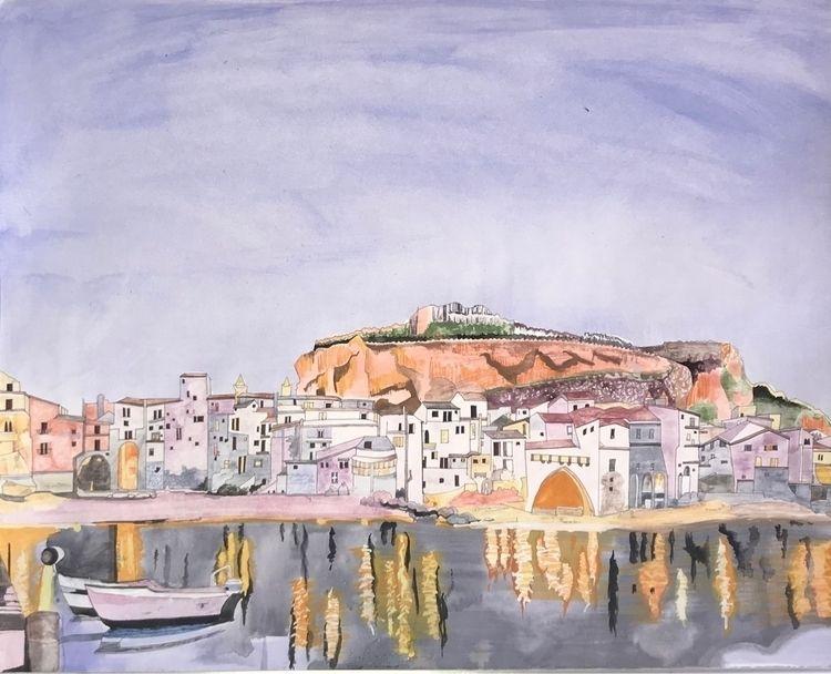 Cefalu - watercolor, illustration - whitneysanford   ello