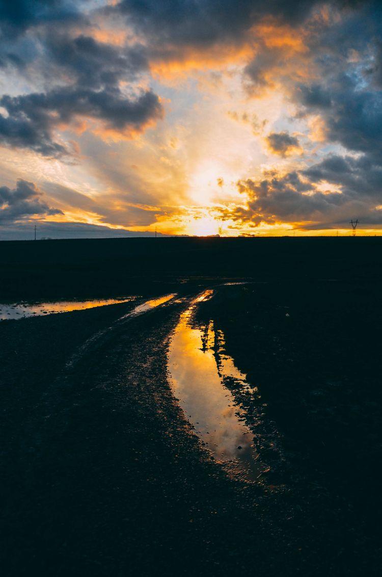 sunset, silhouette, sun, sunshine - oanceaalex | ello