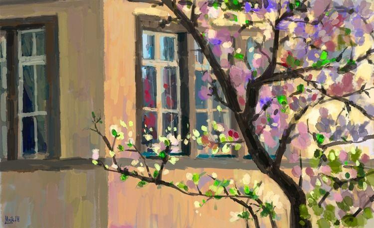 Magnolia Sketch, photo study - art - mujkicharis | ello