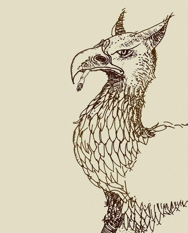 Griffon break - myth, creature, absurd - markograf | ello