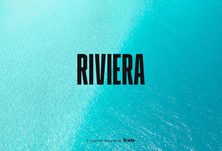 Riviera display typeface bold,  - manuelfcg | ello