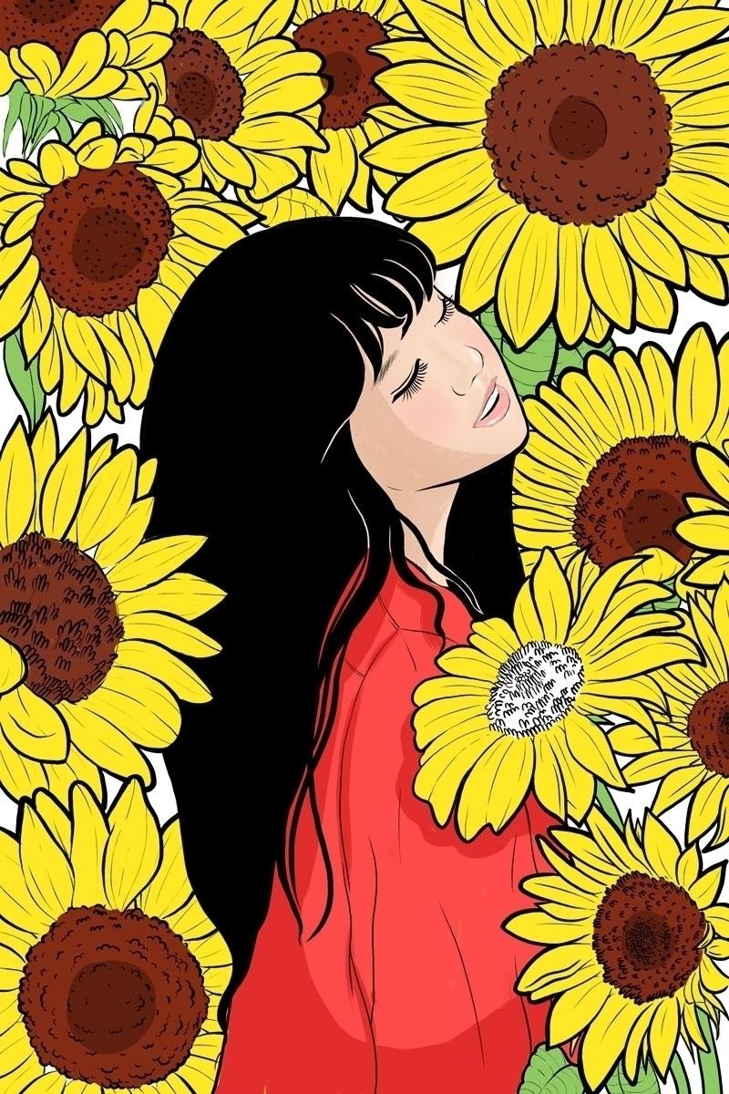 Sunflower Girl, 2018 - kawaii_sutra | ello