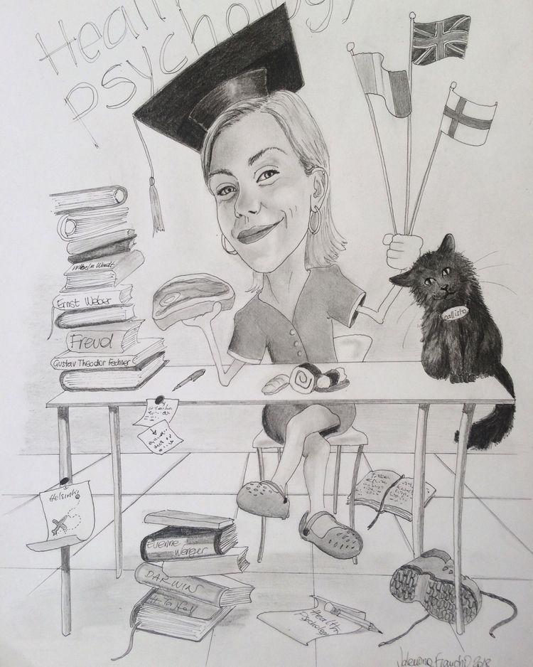 Caricatura - A4 pencil pen - graduaton - valentinafranchi92 | ello