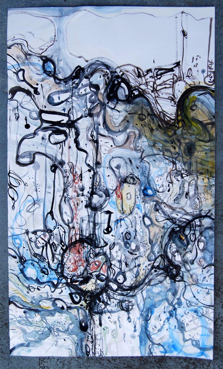 Leura falling Watercolour ink p - loggek | ello
