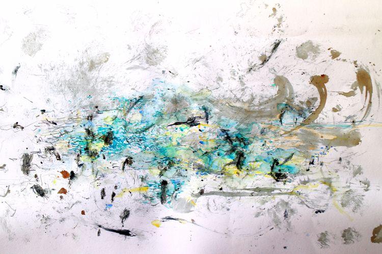 Cormorani fishing Watercolour i - loggek | ello