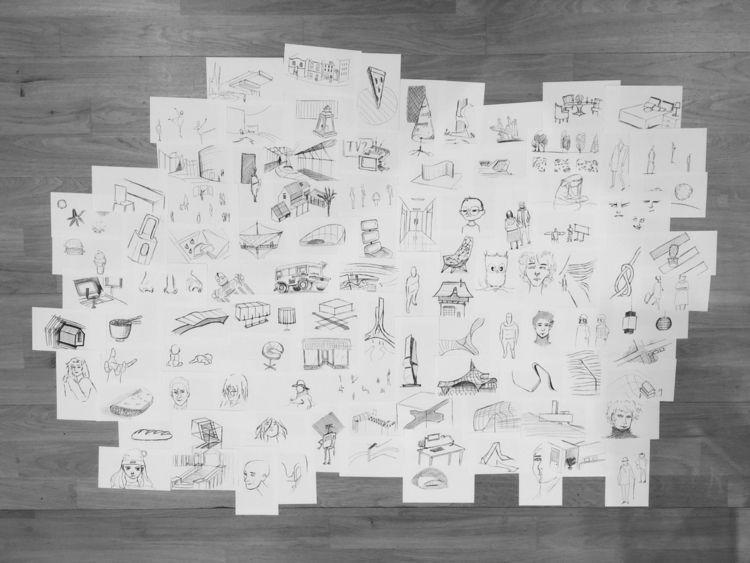 100, drawings - monij | ello