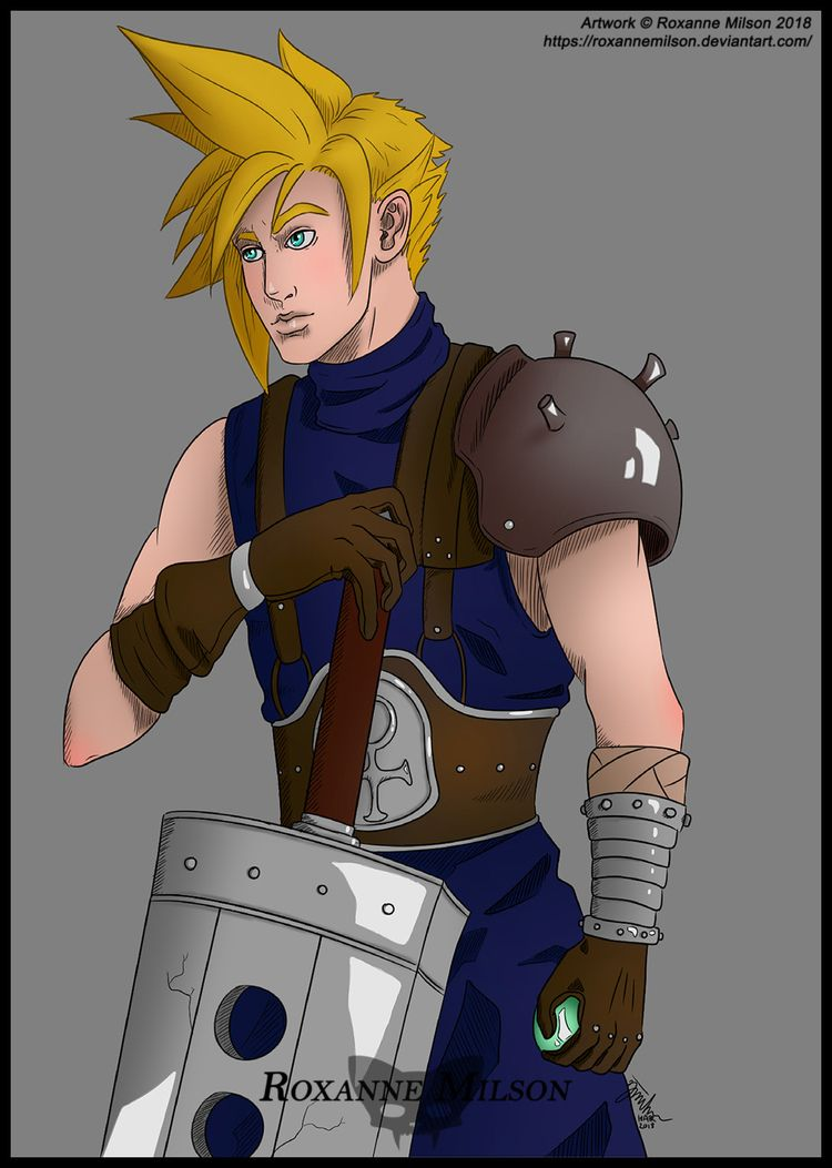 Final Fantasy VII - Cloud Strif - roxannemilsonart | ello