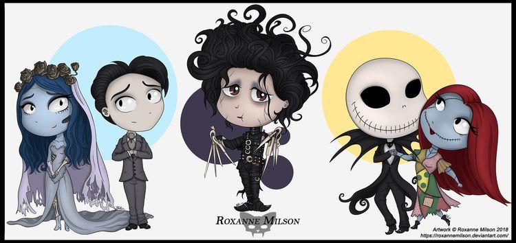 Tim Burton Characters Artwork R - roxannemilsonart | ello
