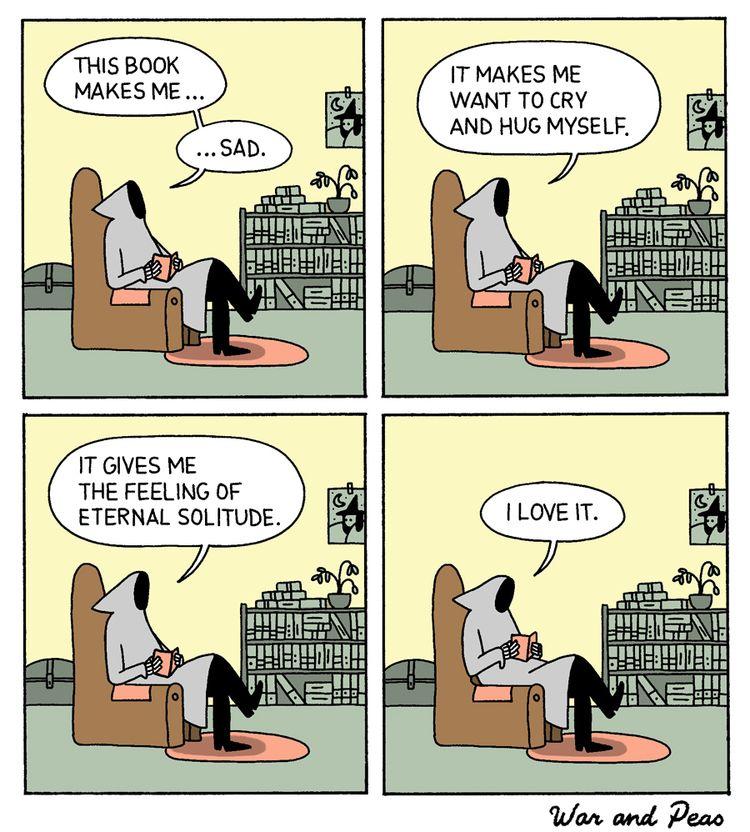 Sadness - comic, webcomic, warandpeas - warandpeas | ello