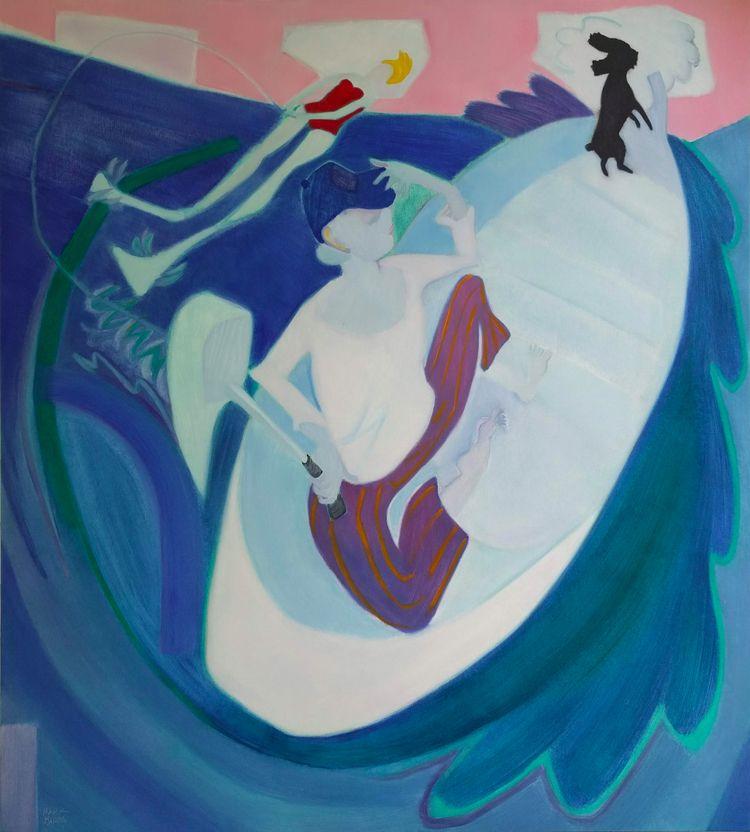 Scallywags Muse Oil canvas 60x5 - markbarry | ello