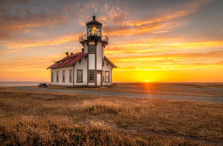Point Cabrillo Sunset-Point Lig - davecurry8 | ello