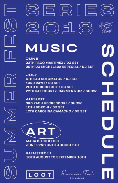 Poster design Summer Fest sched - axregehr | ello