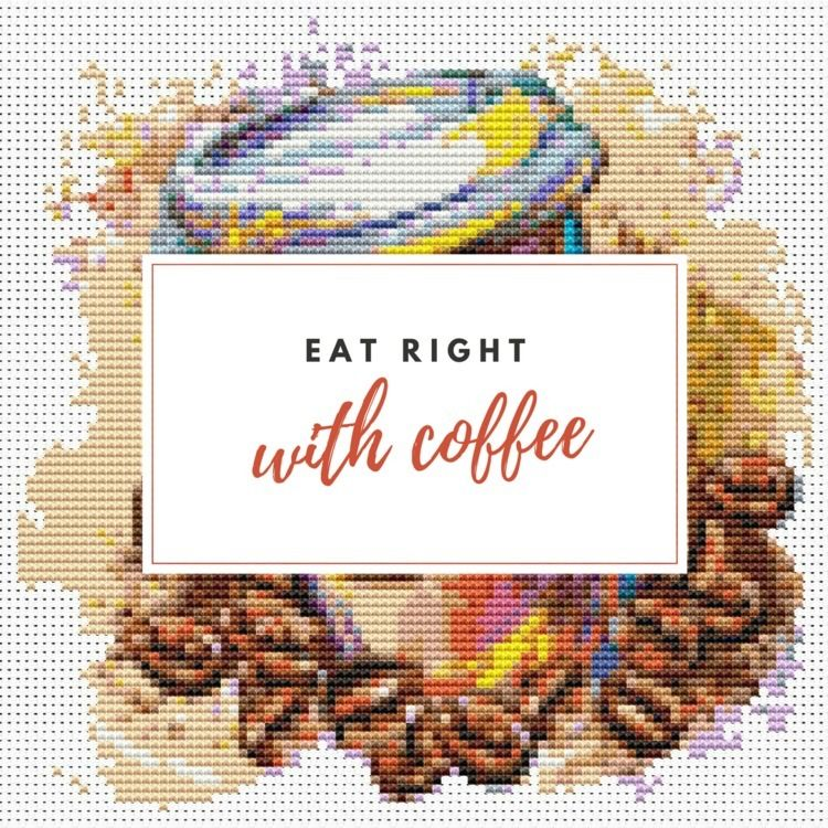 Latte cross stitch - crossstitch - theartofstitch | ello