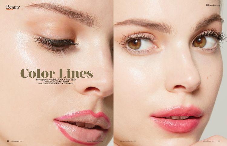 Color Lines Elléments Magazine  - adriannafavero | ello