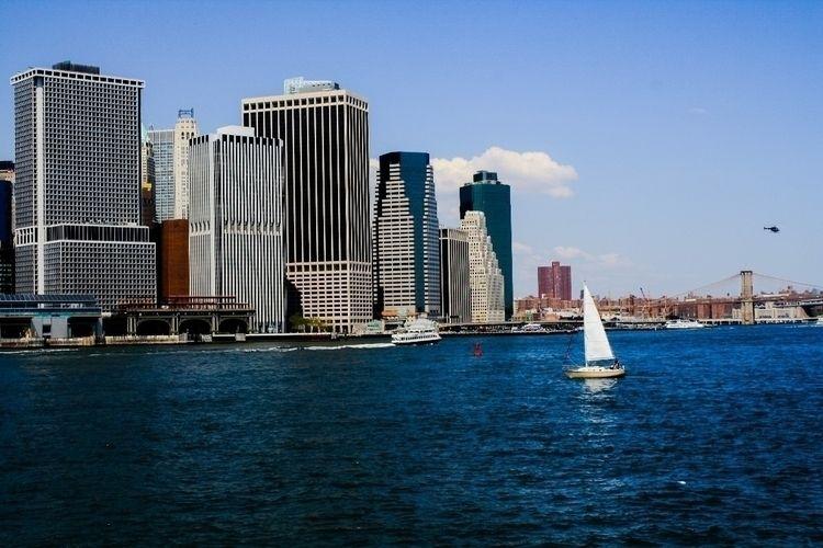 sailing front iconic NYC skylin - banubianlife | ello