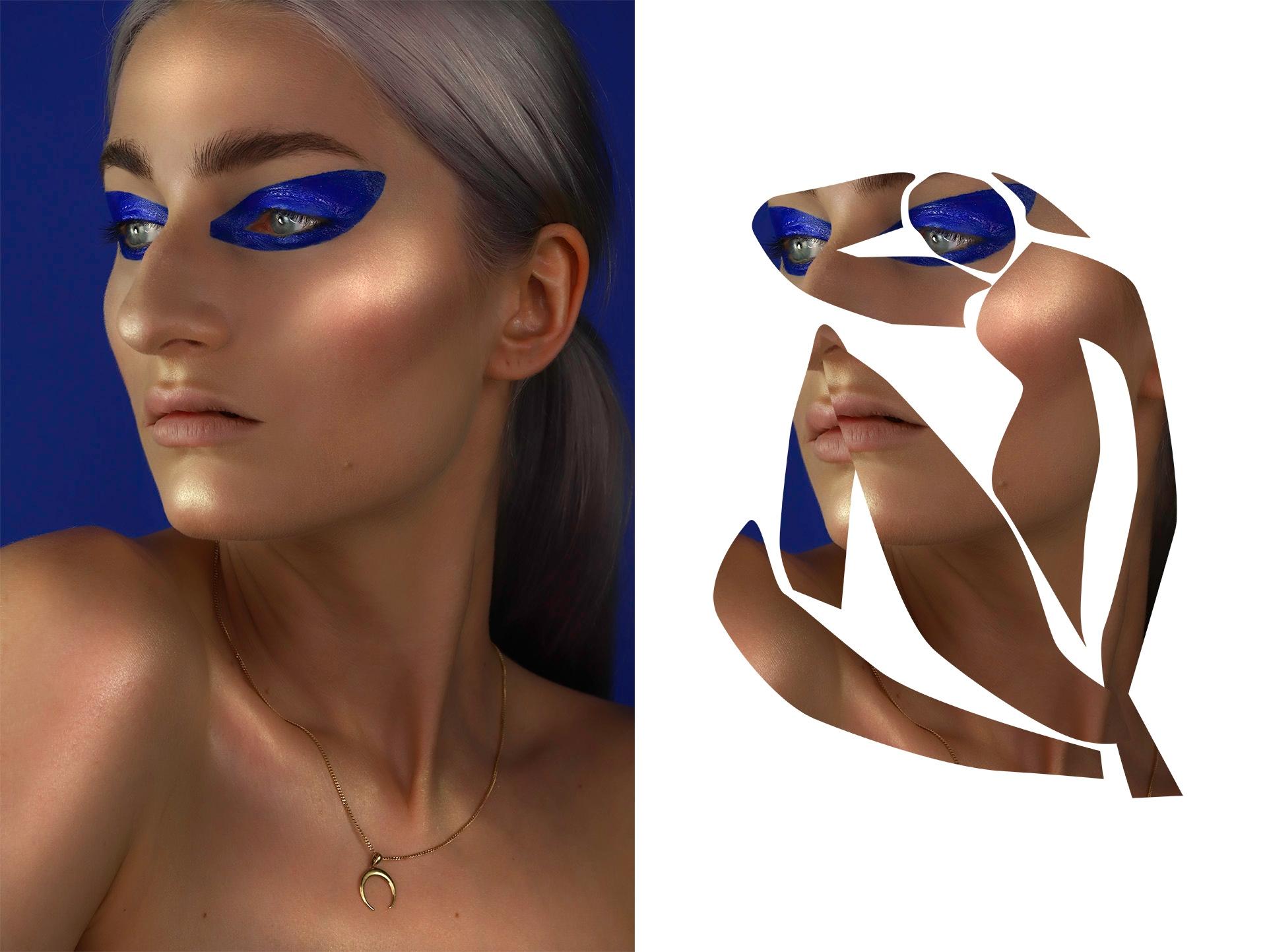 Make-up inspirowany obrazem.  'Blue_Nude_II' by Henri_Matisse