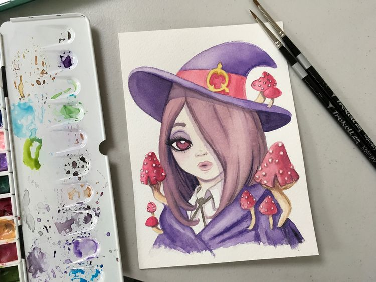 Sucy witch commission finished - smushbox | ello