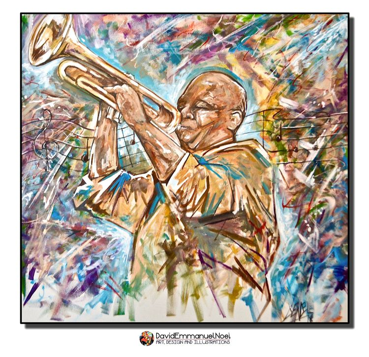 Trumpet Player- Acrylic Canvas  - davidenoel | ello