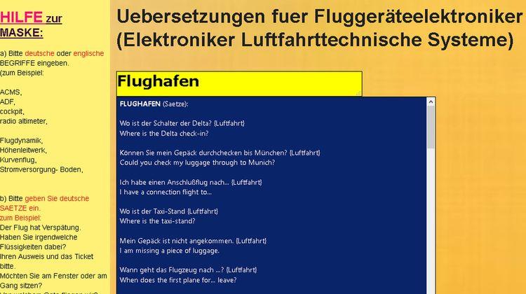 TRANSLATE GERMAN aviation vocab - mechatronik-lehrmittel-wagner | ello
