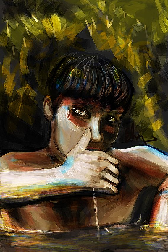 darkness - painting, digital, portrait - andaelentari | ello