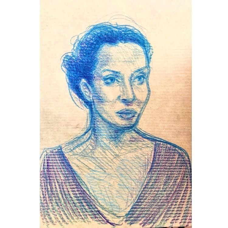 Portrait Mama, night - mother, art - yuliavirko | ello