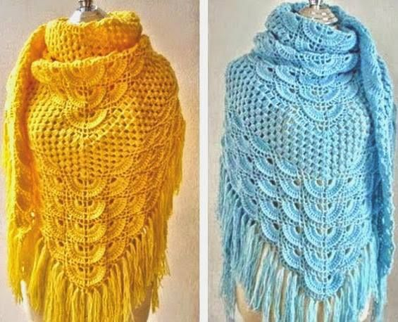 elegant crochet shawl model bea - brunacrochet | ello