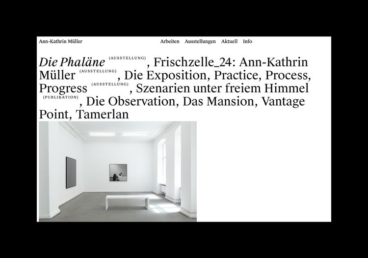 Website artist Ann-Kathrin Müll - northeastco   ello