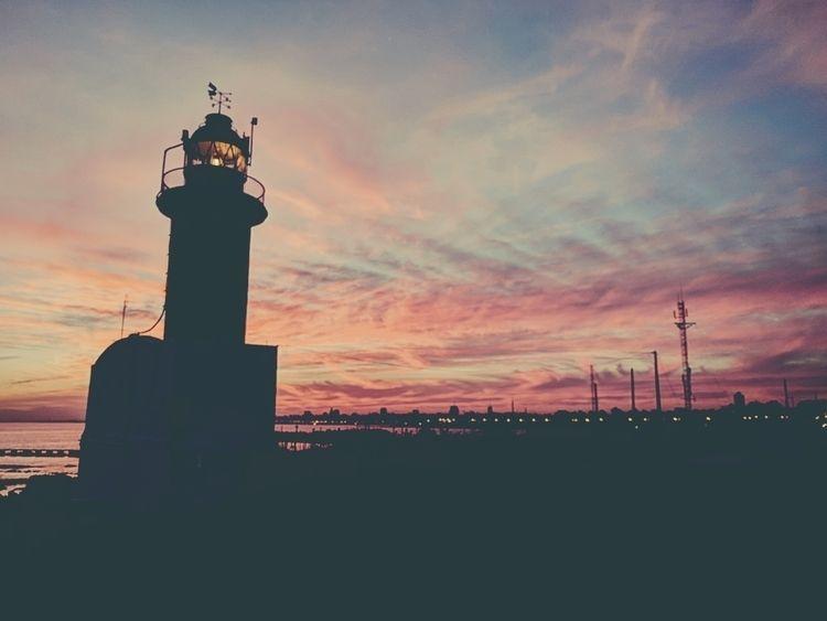 lighthouse city - sunset, landscape - fedodes | ello