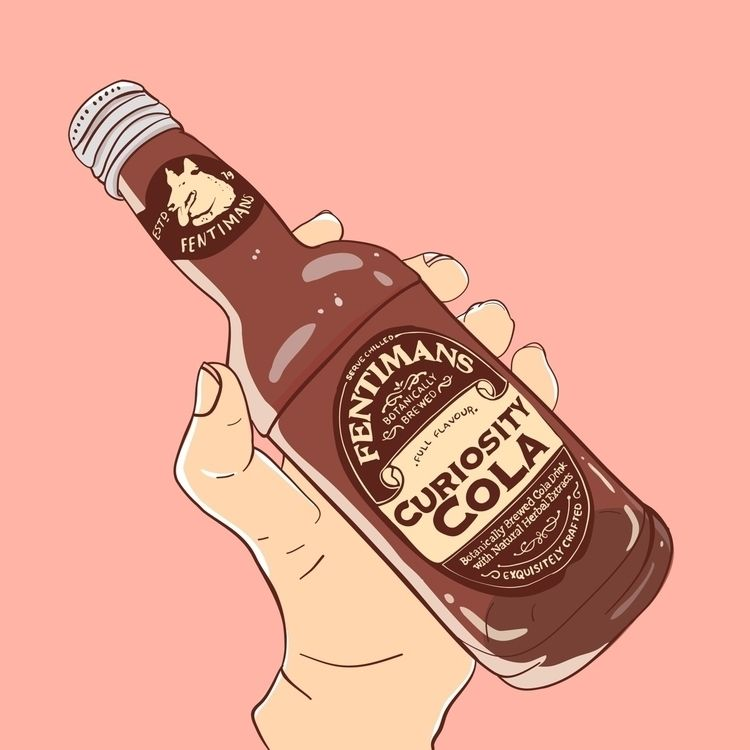 Fentimans, illustration, illo - shapes | ello