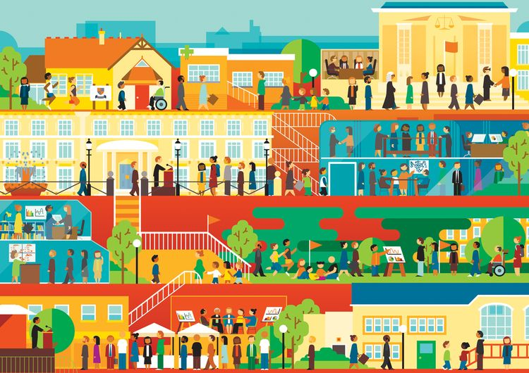vector, illustration, city, illustratorforhire - bentheillustrator | ello