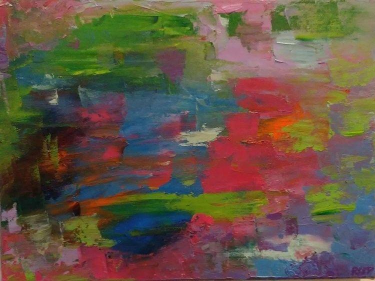 Spring Pink Oil Canvas 12 16 1 - robinccpoole   ello