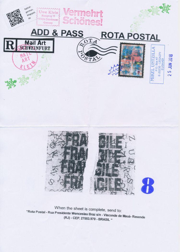 ADD PASS pieces Uwe Klein - maav - papiergedanken-collage-art | ello