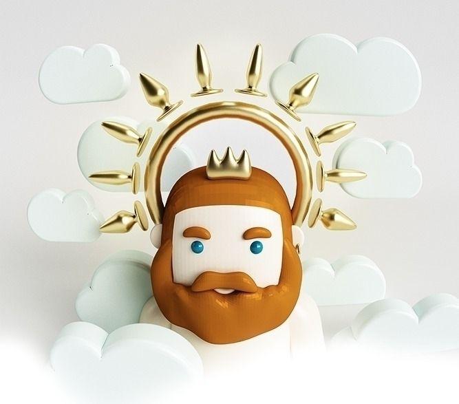 Saint Bears - Character, Beard, Gold - verastudio | ello