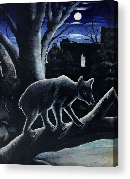 Bear Moon Night 1914 Acrylic Pr - pixbreak | ello