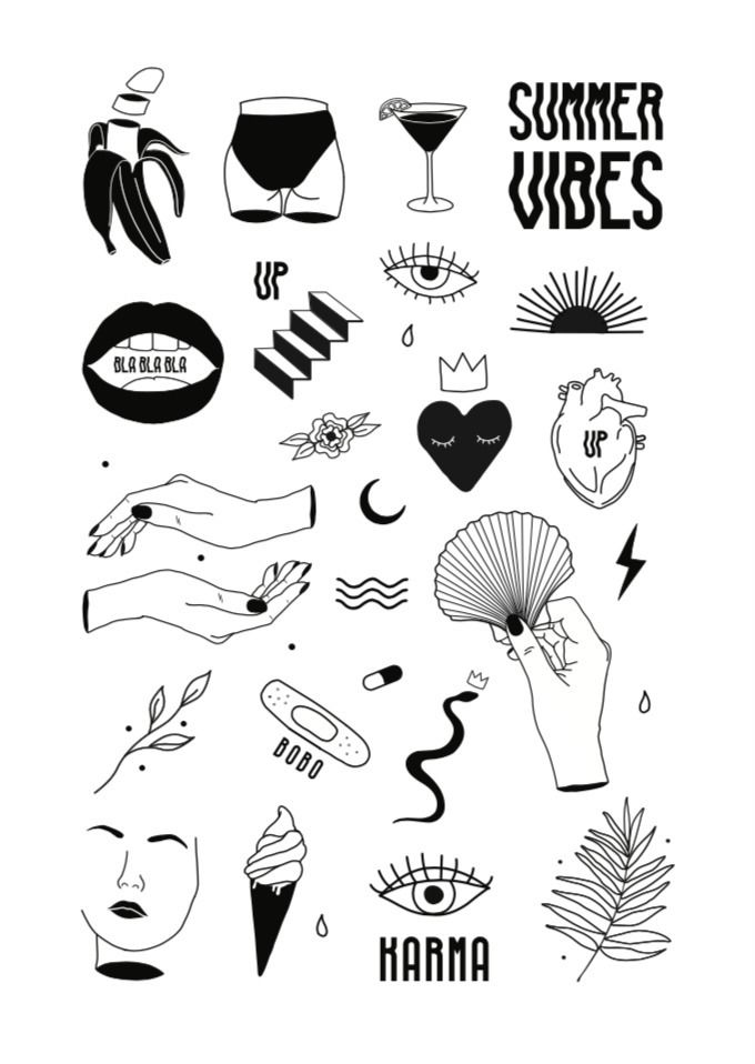 illustration, summervibes, karma - ninaaah | ello