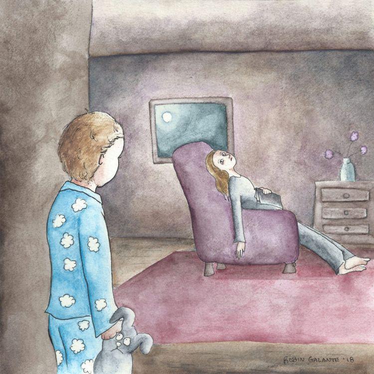 piece explores nighttime strugg - robingalante   ello